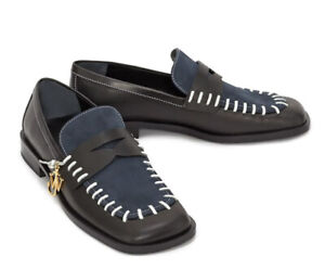 AUTH NIB JW ANDERSON J.W.ANDERSON $640 WHIP STITCH LOAFERS FLATS 37.5 7.5 NR!