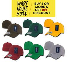 DECKY 1016W MENS PLAIN FLEX FIT HAT PRE-CURVED BILL BASEBALL HAT CASUAL CAPS CAP