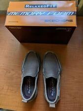 Skechers Relaxed Fit Tan Canvas Men's 7.5 Shoe Memory Foam NEW