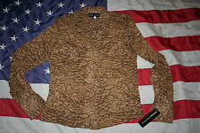 Norton McNaughton Brown Print Blouse Size 6: shirt/top/western/casual   #3583