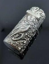 More details for solid silver scent bottle sampson and mordan