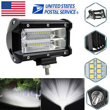 US 5'' 72W LED Work Light Bar Flood Driving Lamp For Jeep SUV Truck Boat Offroad