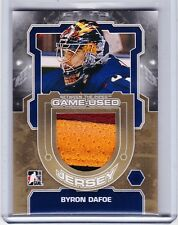 12-13 2012-13 BETWEEN THE PIPES BYRON DAFOE GOLD JERSEY /10 BOSTON BRUINS