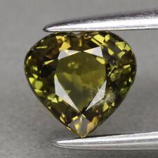 Saphir jaune vert, non traité 1,44 carats