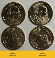 2007 P D (4) Presidential James Madison $1 Coins Position A and B. From Rolls