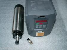 AIR-COOLED 1.5KW ER16 CNC SPINDLE MOTOR+MATCHED INVERTER VFD+80MM BRACKET CLAMP