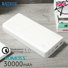 New Power Bank 30000mAh Romoss Genuine Sense 8Plus Portable Battery Quick Charge