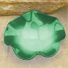 Green Wavy Replacement Glass Dish For Oil/Tart Warmer Aromatherapy Burner 4 1/2""