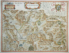ITALIEN VENETIEN IL CADORINO CADORE BELLUNA FELTRE BLAEU KOLORIERT WAPPEN 1640