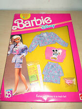 VINTAGE 1989 BARBIE DISNEY CHARACTER FASHIONS *MICKEY MOUSE* BY MATTEL IN BOX..