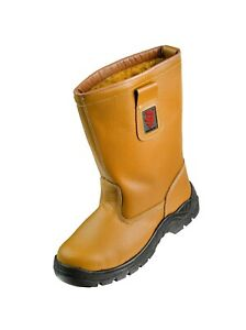 Warrior Tan Lined Rigger Boot Size 6