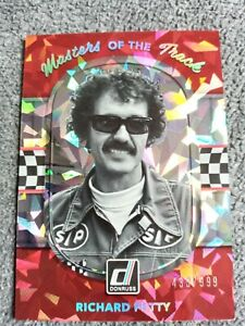 2018 DONRUSS RACING RICHARD PETTY MASTERS OF THE TRACK CRACKED ICE PARALLEL/999