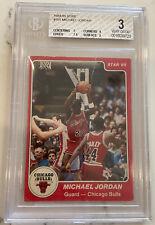 1984-85 Star #101 Michael Jordan XRC Rookie BGS 3 VG