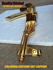 SALE NEW REAL EURO WOOD METAL REPLICA GOLD AK-47 FULL STOCK MOVIE PROP GUN EKOL