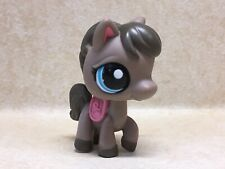 Littlest Pet Shop LPS #1776 Brown Horse Pony Blue Eyes Preowned