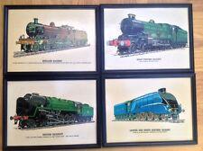Framed prints of drawings Evening star Mallard Clun Castle midland 4-4-0
