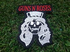 """""""GUNS N' ROSES"""" Slash Skull Rock Band Patch Iron Embroidered Applique Sew Badge"""