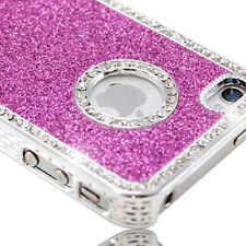 iphone 4 4s case hot pink glitter bling cover and Screen Protector