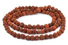 Rudraksha Mala Prayer Beads 18mm Nepal Brown Round Wood Large Hole