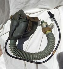 1950's USN USMC Jet Pilot Oxygen Mask Type MS22001 With Mounting Straps & Mike
