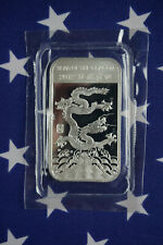 2012 APMEX Year Of The Dragon Uncirculated 1oz .999 Fine Solid Silver Bar USA D1