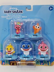 Baby Shark 5 Figure Pack Series 1 Pinkfong William Mommy Daddy Song 2020 WowWee