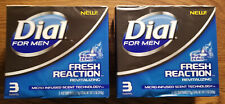 Dial For Men Sub Zero Fresh Reaction Bar Soap - 2 quantity (3 COUNT) - 6 Bars