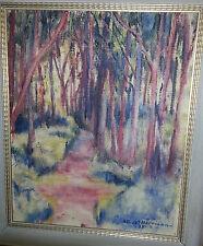 Albert Harrison Signed '37 Original Abstract Landscape