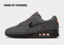 Nike Air Max 90 Gris Negro Hombre Zapatillas Todos Los Tamaños