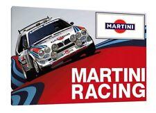 Martini Lancia Delta S4 30x20 pulgadas lienzo Arte-Grupo B Rally Foto Enmarcada