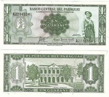 Paraguay 1 guaraní 1952 P-192b UNC Uncirculated banknote Neuf