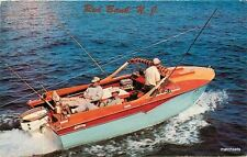 1950s Red Bank New Jersey Speedboat fishing Recreation Dexter postcard 828