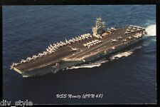 USS Nimitz CVN-68 postcard  US Navy warship nuclear-powered aircraft carrier