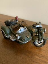 Motorcycle with Sidecar Decorative Collectible