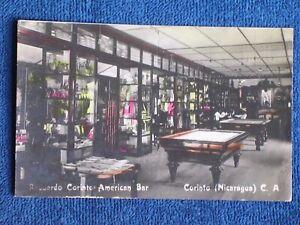 Corinto Nicaragua/American Bar Interior & Pool Tables/Printed Color Photo PC