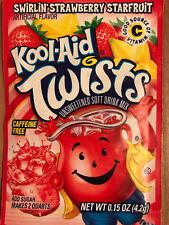 1 Swirlin Strawberry Starfruit Kool Aid Twists Drink Mix RARE not found in store