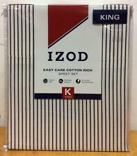 BRAND NEW IZOD BRADLEY STRIPE KING SIZE SHEET SET