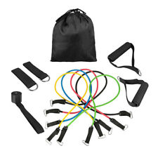 11 PCS Resistance Band Set Yoga Pilates Exercise Fitness Tube Workout ABS W/ Bag