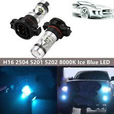 2 x 100W H16 2504 5201 5202 8000K Ice Blue LED Fog Lights Driving Bulbs