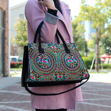 Genuine Embroidered Vintage Tribal BOHO handbag tote bag shoulder bag office bag