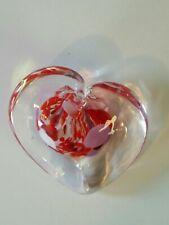 Art Glass HEART Shaped Paperweight