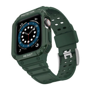 Anti-collision Waterproof Case&Sports Strap For Apple Watch Series 1-7 SE38-45mm