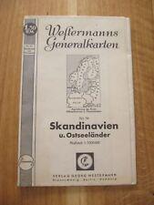 alte Landkarte Generalkarte Nr.38 Skandinavien und Ostseeländer von 1940