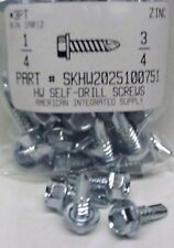 #14x3/4 Hex Washer Head Self Drilling Screws #3 Point Steel Zinc Plated (43)