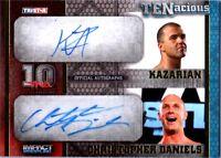 TNA Chris Daniels & Kazarian 2012 TENacious GOLD Dual Autograph Card SN 12 / 100