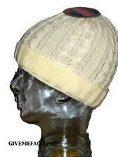 neuf avec étiquette Ethos Crème Roley Bonnet tricot chapeau laineux/casquette