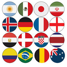 PRECUT World Cup 2018 Football Flag Party Pack Cupcake Toppers Cake Decorations