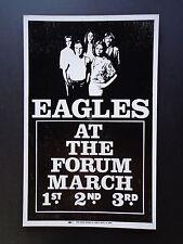 Eagles - At The Forum - Original Vintage Concert Promotion Poster
