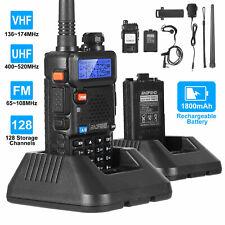 Baofeng Uv-5R Walkie Talkie Uhf Vhf Dual Band Two Way Ham Radio Transceiver