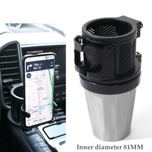 Car Seat Drink Cup Holder Air Outlet Bottle Stand For Phone Storage Bracket Kit